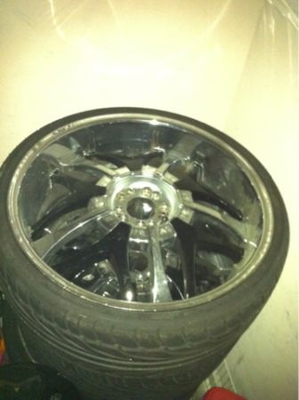22 inch rims chrome black - $600 (New Orleans)