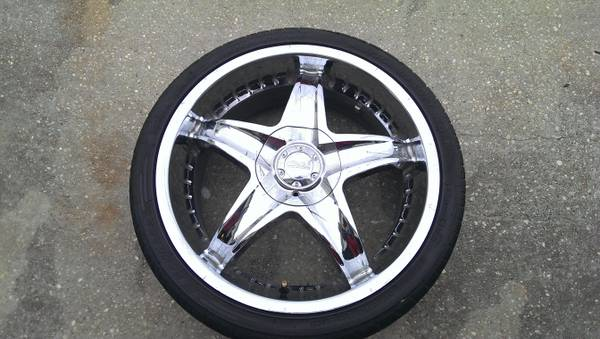 18 Akuza universal 4-lug rims and tires - $350 (Marerro)