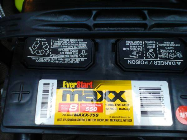 New Everstart MAXX 550 cracking s sidepost battery - $55 (metairie)