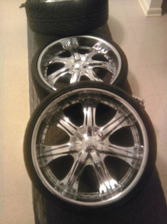 22 Inch U2 rims and tires - $1500 (Metairie)