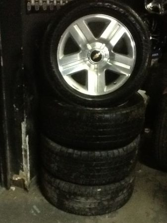20 CHEVY FACTORY ALLOY WHEELS AND TIRES (TEXAS EDITION) - $1200 (SLIDELL NEW ORLEANS)