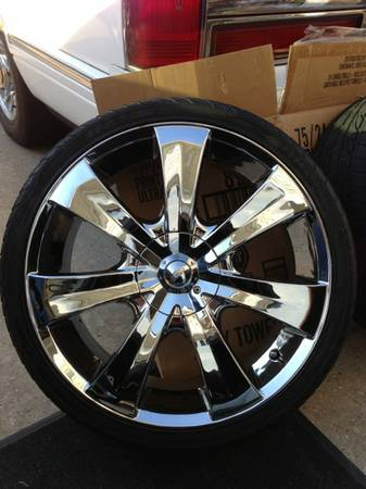 20quot chrome rims and tires - $400 (Harvey)