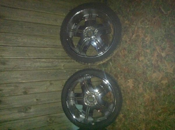 24 Chrome deep dish rims - $1200 (Baton Rouge)