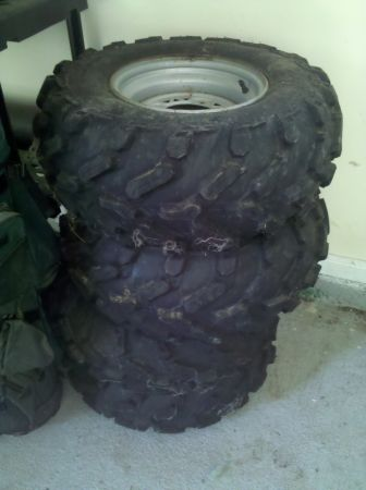 Polaris 4 Wheeler rims and tires AT 26X11R12 - $250 (Slidell)