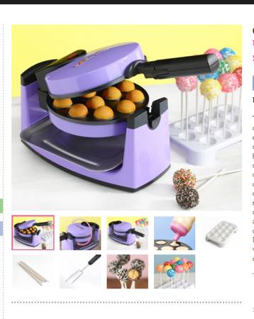 BRAND NEW CAKE POP MAKER w ALL accessories
