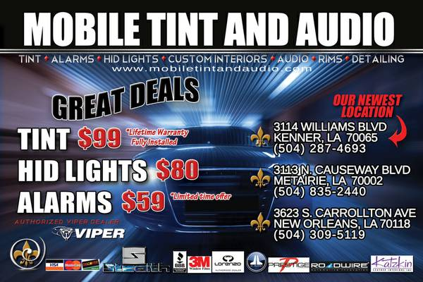 CAR TINT SALE - $99 (KENNER. METAIRIE. NEW ORLEANS)