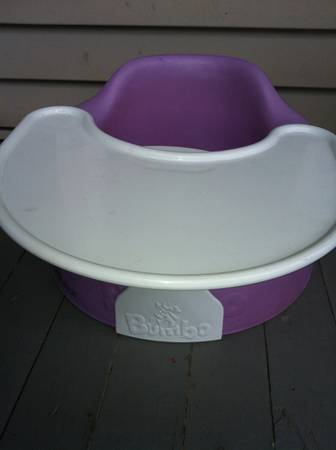 Purple Baby Bumbo Seat Positioning Chair w Tray - x002425 (Lakeview N.O.)