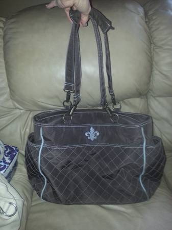 Kalencom NOrleans Chocolate and Blue Diaper Bag - $40 (Chalmette)