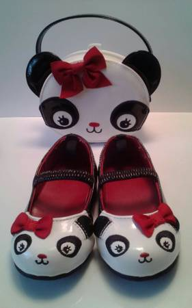 Gymboree Panda Baby Girl size 5 Shoes and Purse - x002425 (Kenner, La)