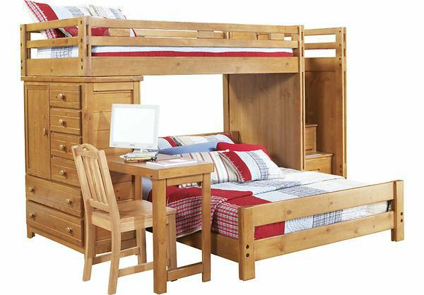 Bunk Bed wDesk, Chest and Steps - $600 (Mandeville)