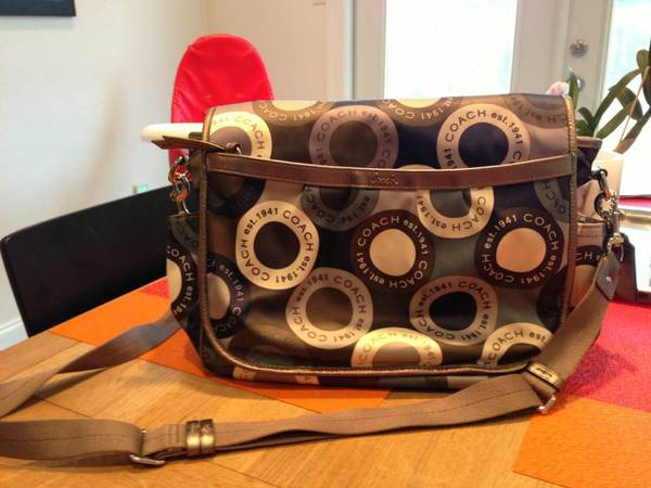Authentic Coach diaper bag - $60 (Metairie)