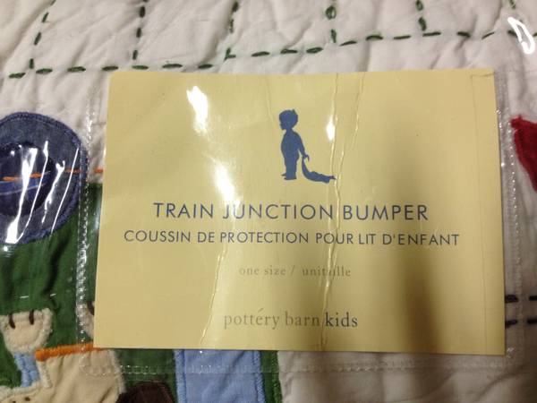 Pottery Barn Kids Train Crib Bedding - $75 (Old Metairie )