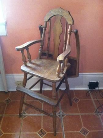 Antique High Chair -   x0024 80  Midcity