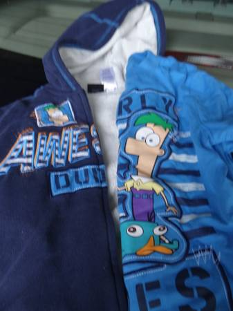 Phineas and Ferb Shirt and Hoodie 4T -   x0024 10  Slidell
