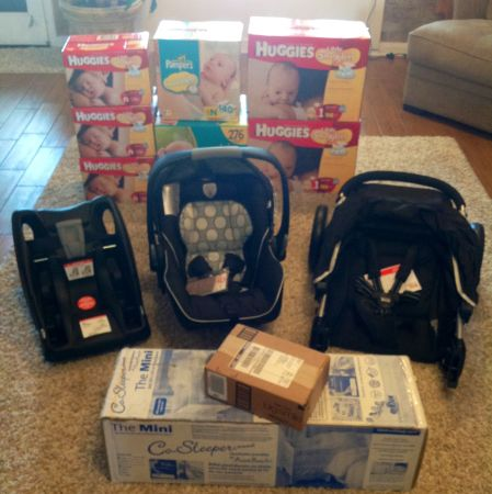 Baby Travel System, Co-Sleeper, Diapers - $600 (New Orleans Area)