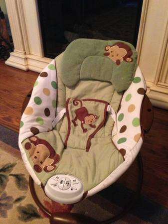 Sassy Monkey Vibrating Bouncer - $8 (LaPlace)