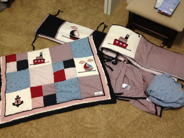 Nautica Jack Crib bedding set - $75 (Covington)