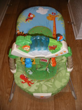 Fisher Price Rainforest Bouncer  - $25 (Westbank Algiers)