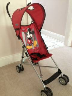 Baby Stroller - Mickey Mouse Umbrella stroller-never been used - $8 (Mandeville)