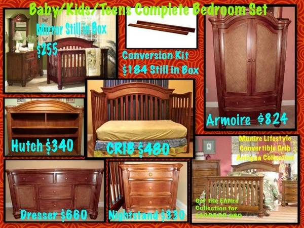 BabyKidsTeen Bedroom Complete Collection Munire Antiqua Collection - $3000 (Franklinton, LA )