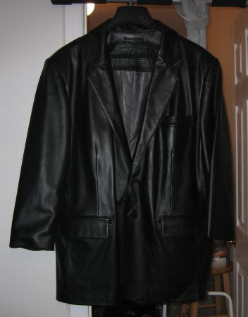 Roundtree  Yorke Mans Leather Jacket - $75 (Slidell, LA)