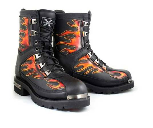 BRAND NEW XELEMENT LEATHER FIRESTARTER Mens Motorcycle Boots 10.5 - $75 (St. Rose)