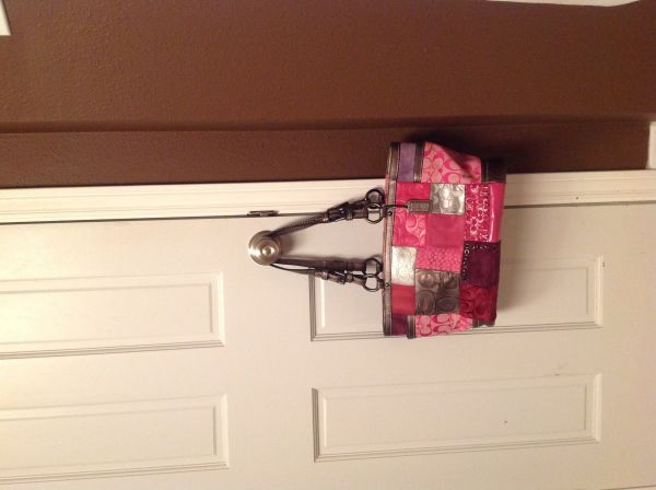 Coach Holiday pink patchwork purse - $150 (Slidell, La)