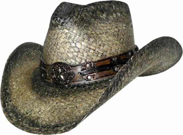 50  FAR STAR Austin Straw Cowboy Hat with Pinchfront Crown