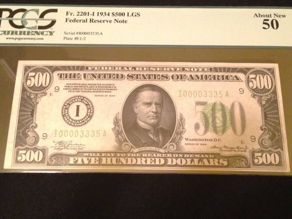 100 AUTHENTIC 3 $1000 AND 1 $500 BILLS - $5500