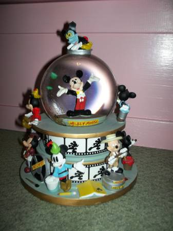 mickey thru the years snow globe - $75 (kenner)