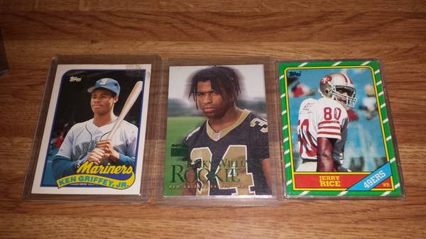 rookie cards jerry rice and more (northshore)