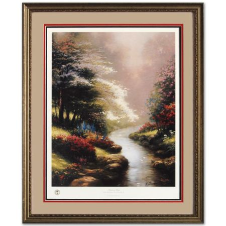 THOMAS KINKADE - PETALS OF HOPE - GARDENS OF PROMISE I - $300 (HOLDEN)