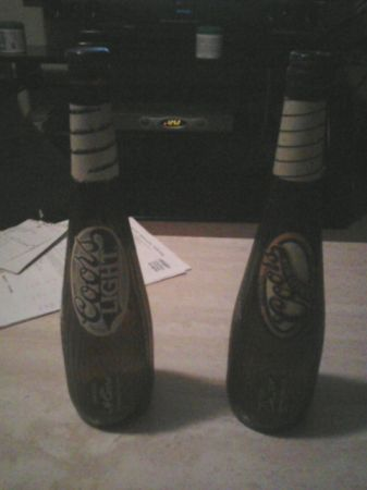 Coors and coors light bat bottle (Metairie)