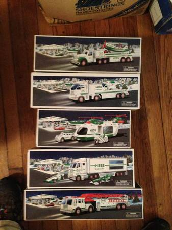Hess gasoline toy trucks in box - $50 (Harahan)
