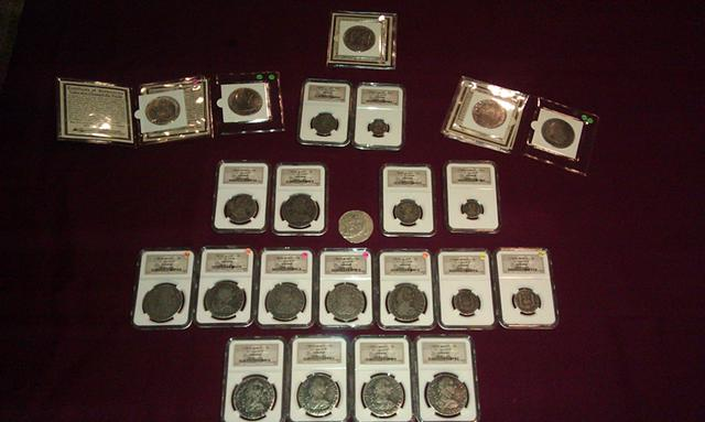 35  Rare 1783 silver shipwreck coins from Gulf of Mexico The El Cazador