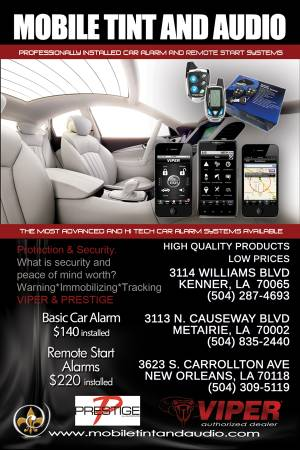 CAR REMOTE STARTS AND ALARMS - x0024140 (NEW ORLEANS. KENNER. METAIRIE)