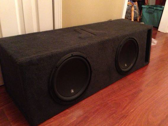 2 JL w3 12 subs in custom box - $350 (Marrero)