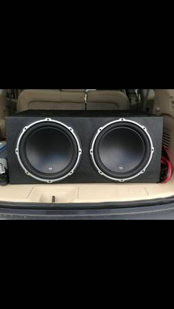 Two 12 W3 JL subs in boxREDUCED - $350 (Metairie)
