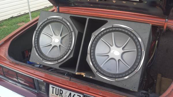 3 15 inch kicker CVXs and super bass probox - $375