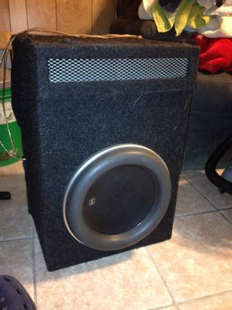 Jl w7 12 with ported box $350 obo - $350 (Westbank)