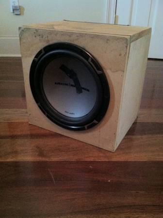12 Jackhammer Subwoofer in Custom Box - $120 (uptown)