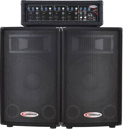 4-channel, 120W PA system with 2 full-range, 2-way speakers. - $275 (St. Rose, Louisiana)