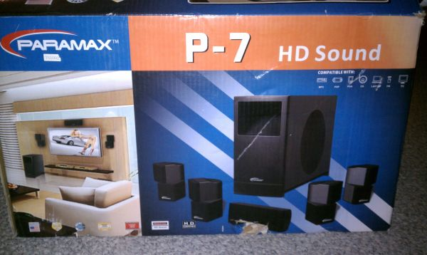 Paramax P-7 HD Sound System (Never Been Used) - $50 (Picayune, Mississippi)
