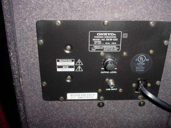 Onkyo home theater Powered subwoofer - $100 (New Orleans mandeville)