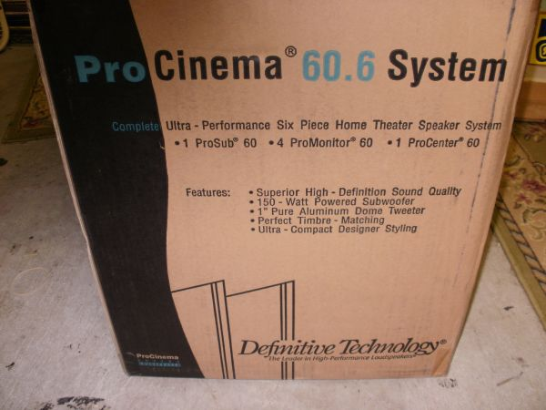 Definitive Technology home theater speaker system wPowered sub - $150 (Kenner)