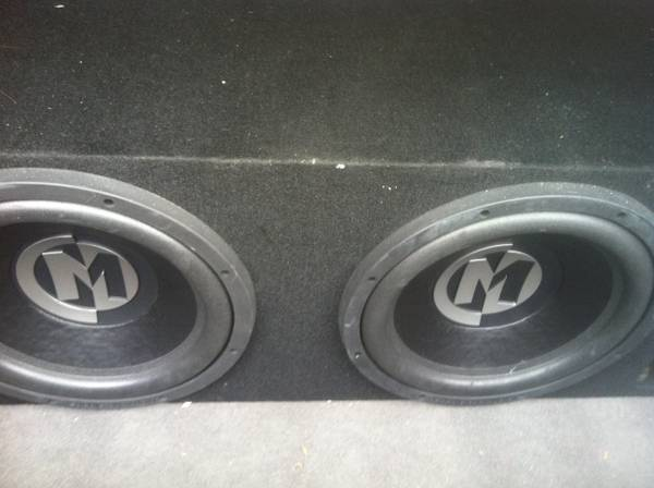 Car Audio - 2 Memphis 12 Subwoofers, 1 1200 W Sony Amplifier - $1 (New orleans)
