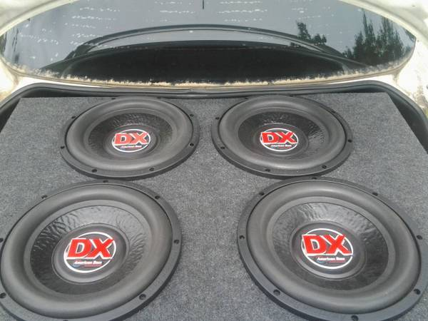 4-12s American bass DX is in PWK designs slotproted box - $540 (covington)