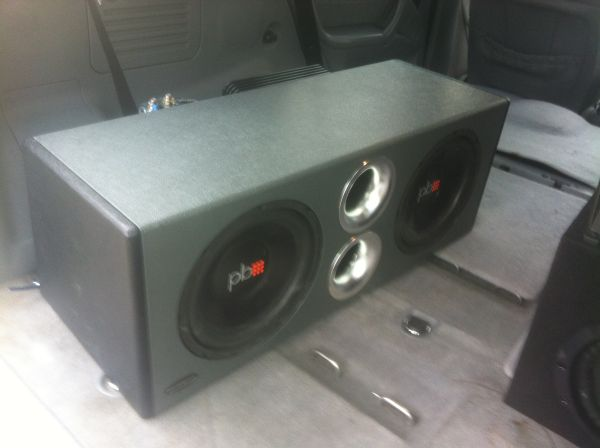 Two 10s, Amp, Capacitor and In-Dash touchscreen - $400 (Riverbend)
