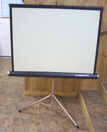 Da-Lite GOLDEN CHALLENGER THEATER MOVIE PROJECTOR SCREEN 40 X 40 - $50 (Lakeview new orleans)