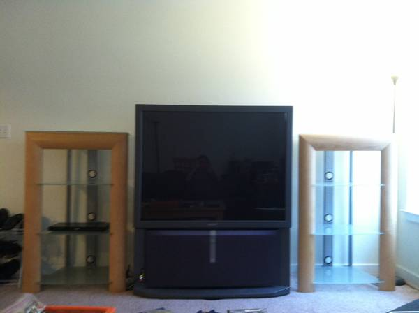 53inch Sony HD Projection TV 2 stands $75 - $75 (lower garden district)